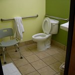 "perhaps because ours was an ""accessible"" room it had the adjustable-height chair."