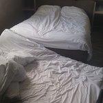 Campement de fortune mis en place pour que ma sœur puisse dormir dans une pièce chauffée (93€)