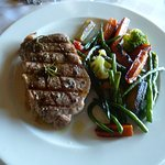 350 gram Rib eye steak with vegetables