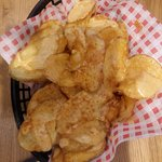 Hot potato crisps