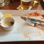 Tuesday market day ! Dropped into the bell inn with three friends . We all had fish and chips fo