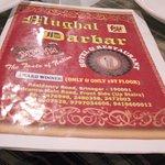 Menu book @ Mughul Darbar.......