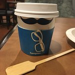 Hampton Coffee Cup with REALLY NICE stirrer!