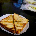 toasted cheese and chutney sandwich