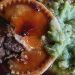 Microwave pie and peas