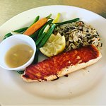This is the best salmon in town I will definitely recommend Point Loma cafe restaurant....