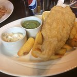 Excellent gluten free fish and chips