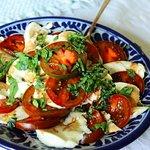 Our breakfast caprese salad