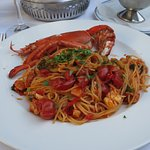 lobster pasta in a delectable tomato sauce.The flavours were exqusite an dwell brought out while