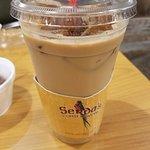 Iced latte at Serda's in Daphne