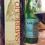 Sangiovese. Restaurants own estate wine