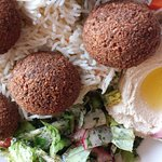 Gluten free falafel! Great food, super friendly chef/owner.