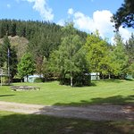 Spacious green areas in the center of the campground.