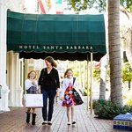 Hotel Santa Barbara is within walking distance to many outdoor shops and malls.