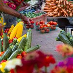 Every Tuesday evening experience the farmers market directly in front of Hotel Santa Barbara.