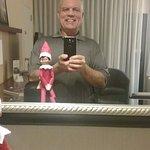 My selfie with Marriott's elf, Dave :-)