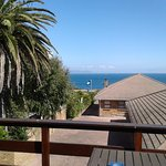 Lovely sunny deck to view the ocean from