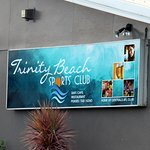 Welcome Sign at Trinity Beach Sports Club