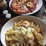 Tasty Hawaiian Pizza and Shrimp Pasta