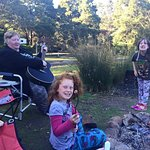 Each campsite has a campfire area so toasted marshmallows and sing-along were required