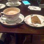 Praline latte and banana and walnut loaf
