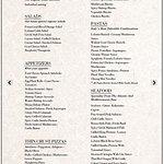 The menu alacarte and buffet