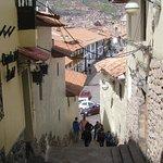 Calle Alabado con direccion a la Plaza de Armas