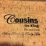 Cousins on King - menu