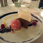 Dark chocolate marquise...