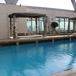 Roof top pool and hot tub on floor 41