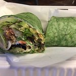 California Turkey Wrap in a spinach tortilla