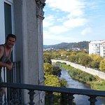 Large shower window and nice deck overlooking Caldas
