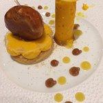 Sorbet de butternut et mousse marron