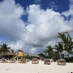 View from water - a new addition to local resort (Sandals) being built