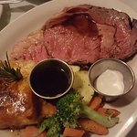 Prime rib with scalloped potatoes