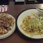 Smothered Burrito and Poutine