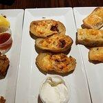 Calamari , Potato skins and Garlic bread ~Monday is alf off aps night