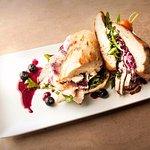•Tacchino freshly carved turkey, spinach, goat cheese, seasonal berry jam