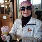 GG enjoying a Black Cherry Ice cream Cone