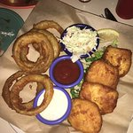 Halibut and Onion Rings