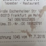 Receipt with address