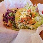 Mahi Taco and Steak Taco