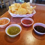 Chips and 4 Salsa choices