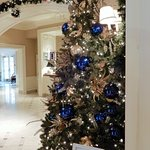 One of the many Christmas trees in Foyer/Lounge area