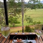 Lovely plate of local cheese, great bottle of wine (we brought our own Hervey Bay prawns) Balcon