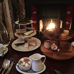 Afternoon Tea by the fire on a cold Day just before Christmas..... perfect