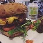 portobello vegan cheese burger <3