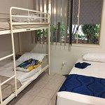 One set of bunks per room, beds unbelievably hard.