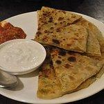 Yummy parathas at Indian Kaffe Express