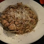 This was a chicken pasta daily special. Tasty but chicken cuts somewhat unappealing.